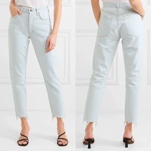 NWT AGOLDE HIGH RISE JAMIE CLASSIC JEANS IN MEADOW